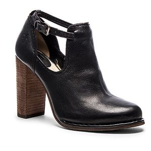 Frye Margaret leather ankle strap cutout heel boot